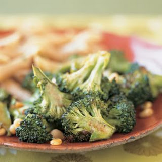 Roasted Broccoli with Pine Nuts and Balsamic Vinaigrette