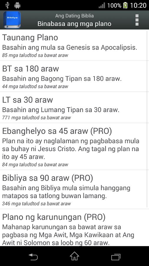 Bibliya sa Tagalog - screenshot