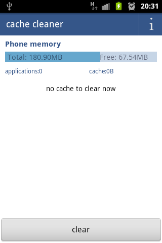 cache cleaner free - screenshot