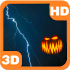 Pumpkins Scary Storm Lightning icon