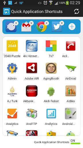 Quick Application Shortcuts