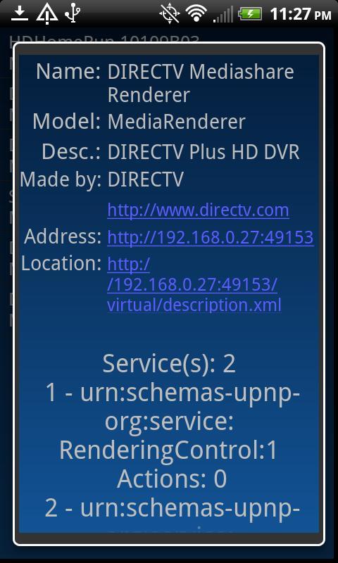 TaUF (UPnP Finder)- screenshot