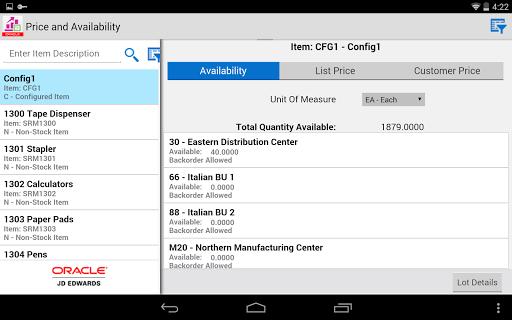 Product Price - JDE E1