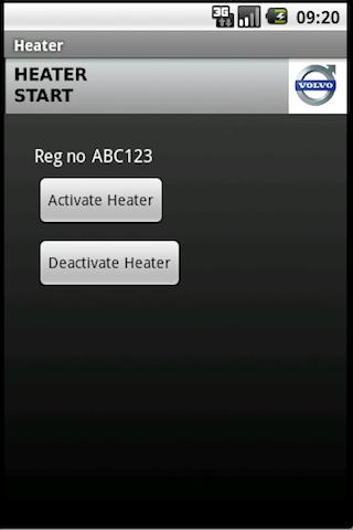 HeaterStart- screenshot