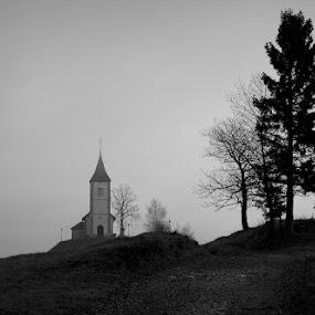 Jutro by Donat Piber - Black & White Landscapes ( fog )