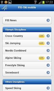 Fis-ski mobileLiveergebnisse- screenshot thumbnail