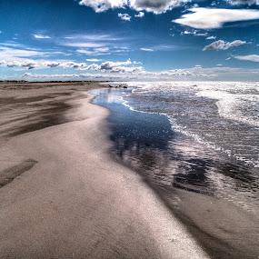 Camargue / 1 by Riccardo Lazzari - Landscapes Beaches ( clouds, provence, tm, hdr, camargue, france, beach )