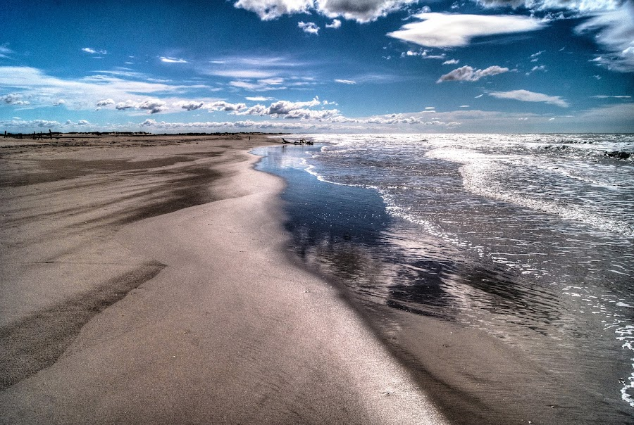 Camargue / 1 by Riccardo Lazzari - Landscapes Beaches ( clouds, provence, tm, hdr, camargue, france, beach )