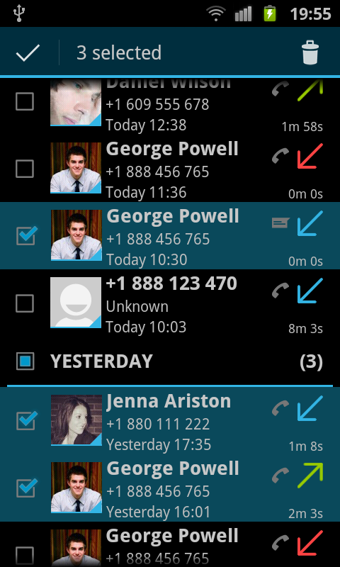 Call Log Monitor - screenshot