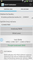 Screenshot of IBAN Kalkulator