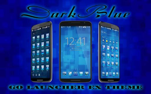 Dark Blue Go Launcher Ex Theme