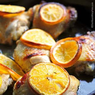 Easy Orange Baked Chicken.