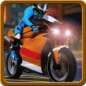3D Motorbike downtown driving icon