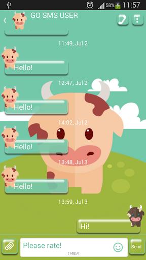 GO短信加强版可爱的奶牛