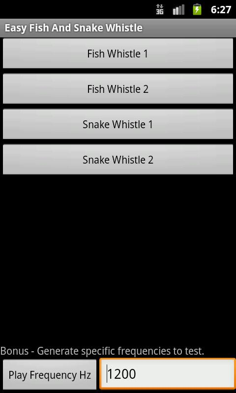 Easy Fish And Snake Whistle- screenshot