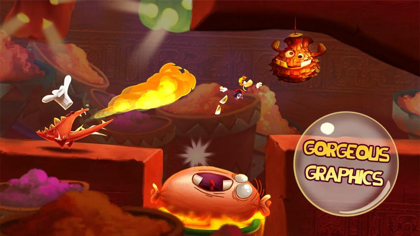Rayman Fiesta Run- screenshot