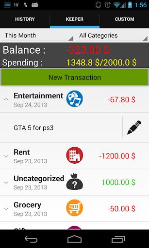 Money Keeper - expense tracker