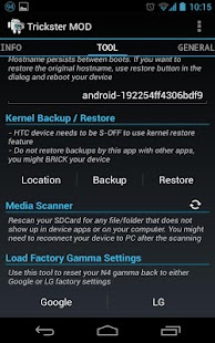 Trickster MOD Kernel Settings Screenshot