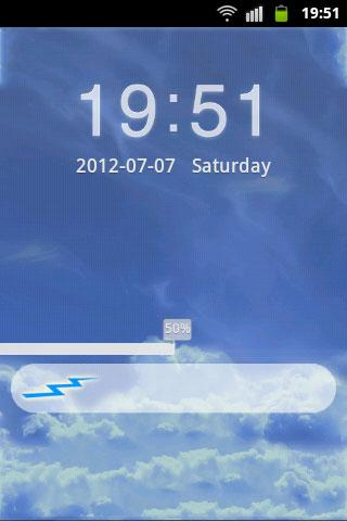 GO Locker Theme Blue Clouds - screenshot