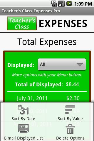 Teacher's Class EXPENSES PRO- screenshot