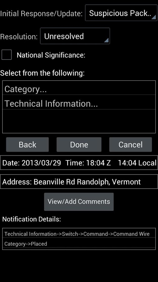 TSWG Instant Notification - screenshot