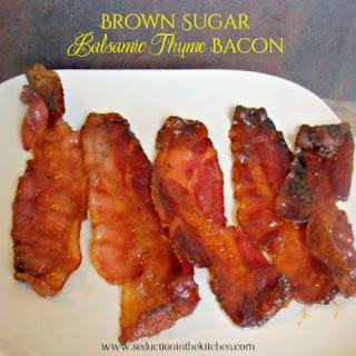 Brown Sugar Balsamic Thyme Bacon