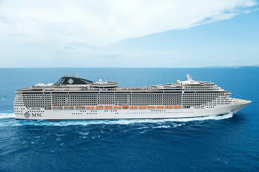 MSC-Splendida - MSC Splendida begins a voyage through the Mediterranean.