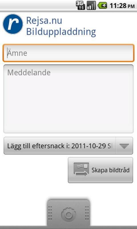 Rejsa Bilduppladdning- screenshot