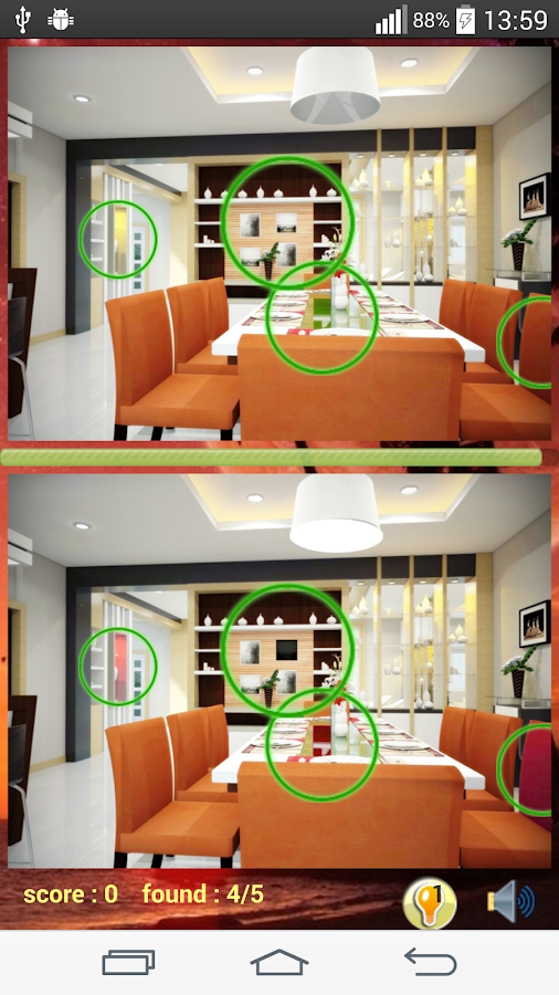 Find Difference Dining Room Screenshot