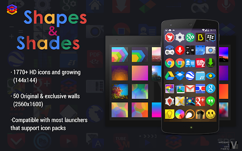 Shapes Shades icons walls