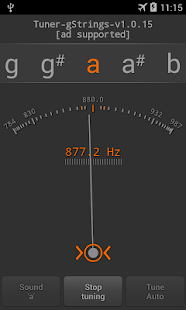 Tuner - gStrings Free- screenshot thumbnail