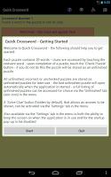 Screenshot of Quick Crossword (adfree)