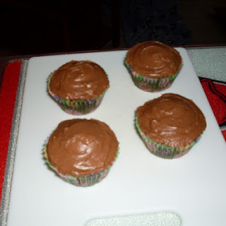 Chocolate Cupcakes With Chocolate Cream Cheese Frosting.