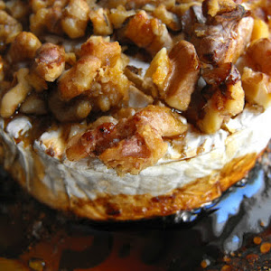 Camembert with Honey and Walnuts