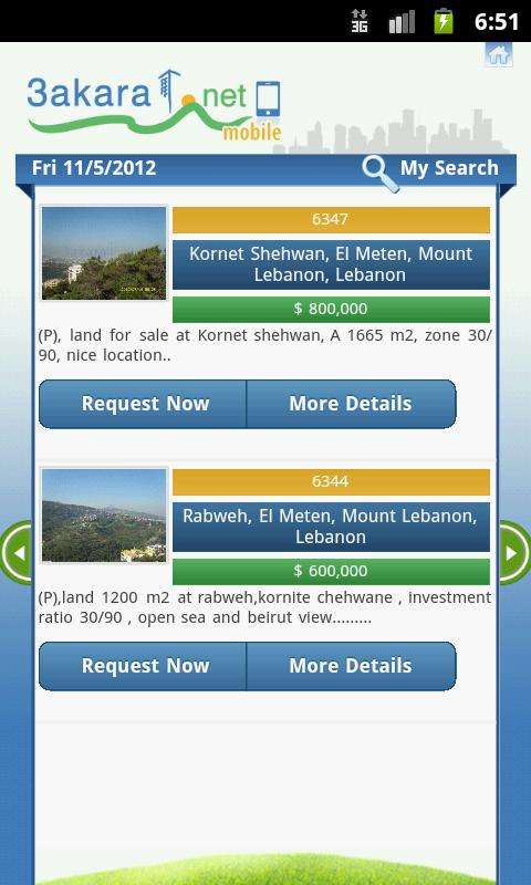 3akarat - Real estate Lebanon - screenshot