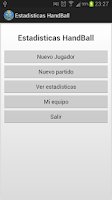 Screenshot of Estadisticas Handball