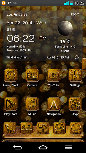Next Launcher 3D Theme Golden