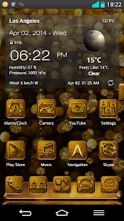 Next Launcher 3D Theme Golden- screenshot thumbnail