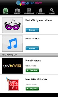 myplex now TV, Live Mobile TV - screenshot thumbnail