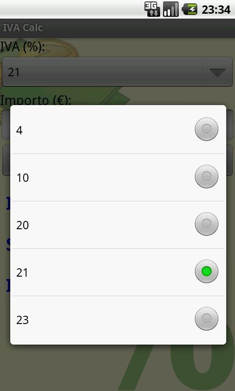 IVA Calc (Italian VAT Calc) - screenshot