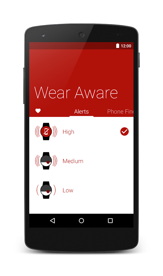 Wear Aware - Phone Finder- screenshot