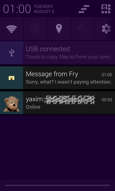 Bruno the Jabber Bear (XMPP)- screenshot
