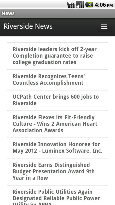 Riverside News- screenshot