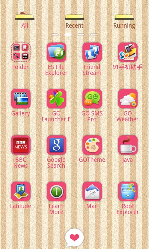 Kcat Theme GO Launcher EX - screenshot