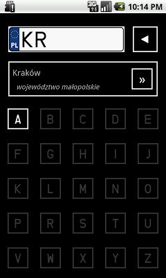 Tablice rejestracyjne - screenshot