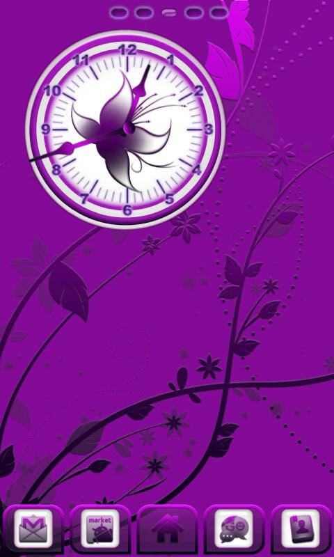 Royal Purple Clock - screenshot