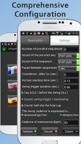 Screenshots for Mobile Golf Tempo Training Aid