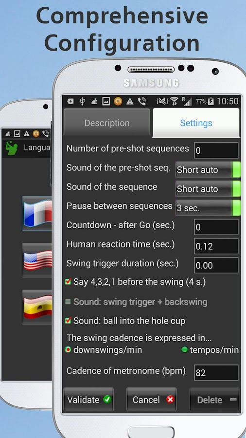 Mobile Golf Tempo Training Aid- screenshot