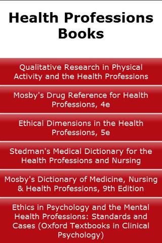 Health Professions Books
