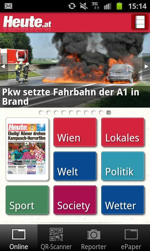 Heute - Die Tageszeitung - screenshot